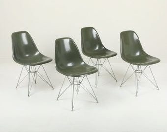 SOLD - Set of 4 Vintage Herman Miller Eames DSR Fiberglass Shell Chairs