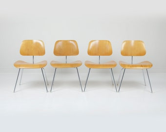 Vintage Herman Miller Eames DCM Chairs - Set of 4