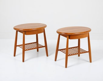 Danish Modern Solid Teak Nightstands/End tables