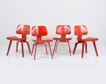 Herman Miller Eames DCW Chairs - Set of 4