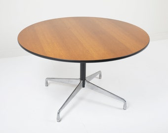 "54"" Herman Miller Eames Aluminum Group Dining Table"
