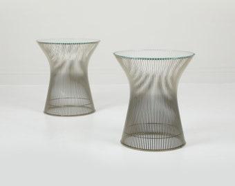 Vintage Knoll Warren Platner Side Tables - Pair