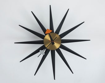 Vintage George Nelson Howard Miller Spike Clock