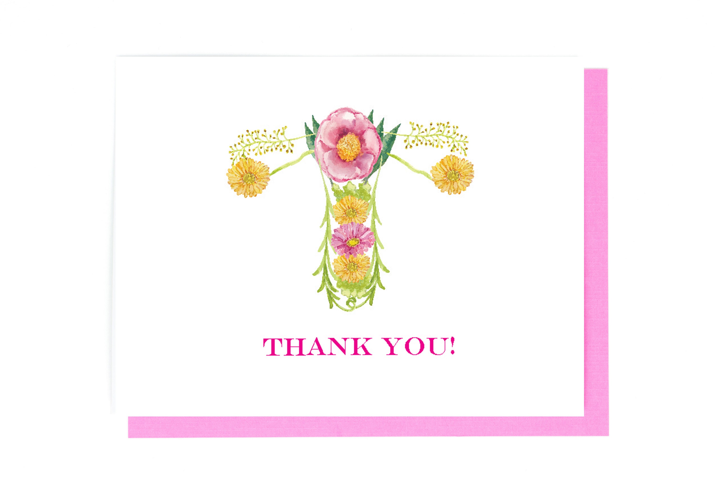 Obgyn Uterus Thank You Card Ovaries Uterus Anatomy Card Etsy