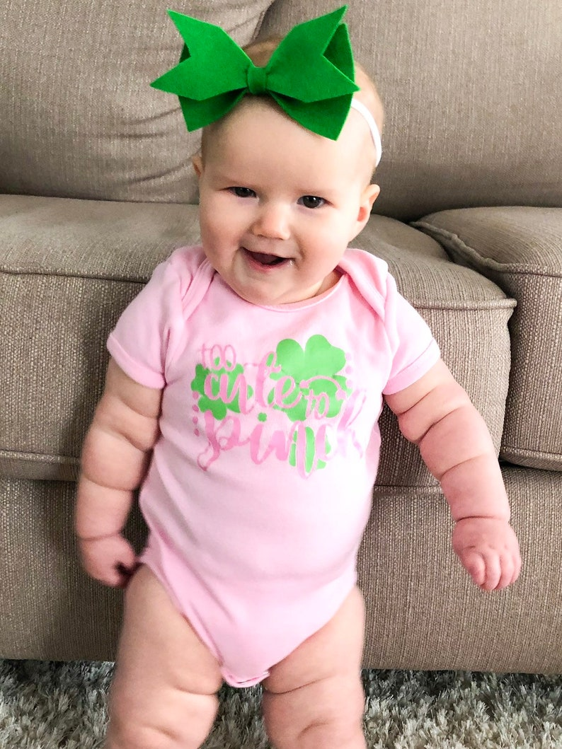 St Pattys Day Shirt St Patricks Day Baby Girl Baby St Patricks Day Baby Baby Onesie Funny Baby Bodysuit St Patricks Day Onesie