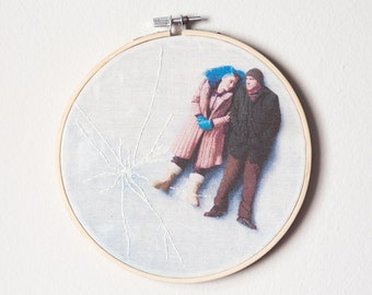 Hand embroidered Eternal Sunshine of the Spotless Mind Hoop