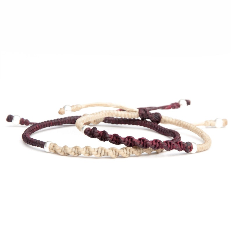 Matching couples bracelets / His & hers twisted rope bracelets image 0