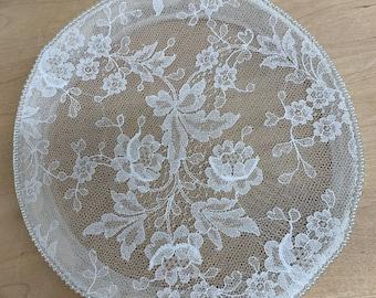 Lace bridal pillbox vintage