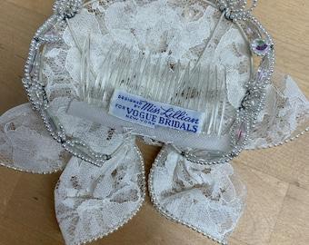 Miss Lilian for Vogue Bridals New York fascinator mini hat fifties vintage