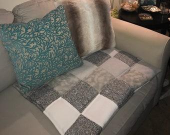 Dark Grey Decorative Dog Blanket