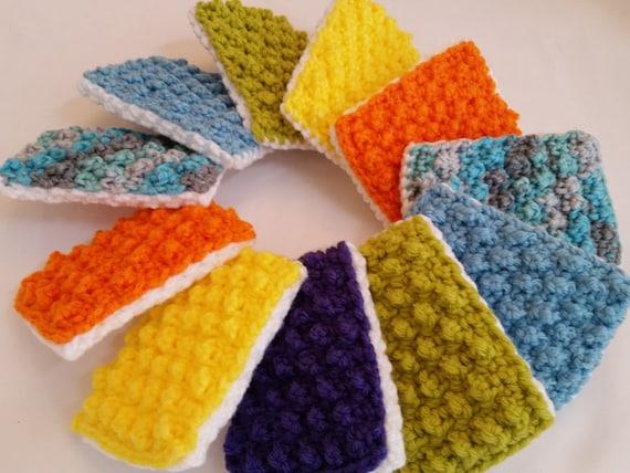 Crochet Dish Sponge Dish Scrubbie Reusable Scrubbie Crochet Etsy