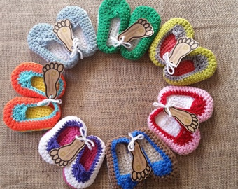 Crochet baby shoes, crochet baby booties, Newborn shoes, Infant Shoes