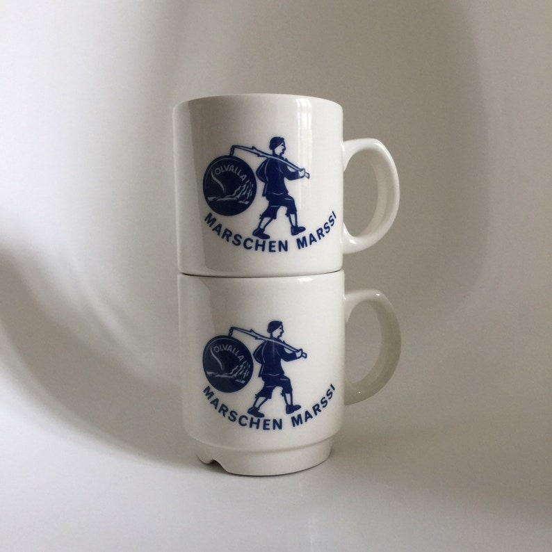Arabia kesti coffee cup set of 2 G\u00f6ran B\u00e4ck