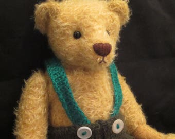 NEW PRICE - Sebastian - a O.O.A.K. hand stitched bear.