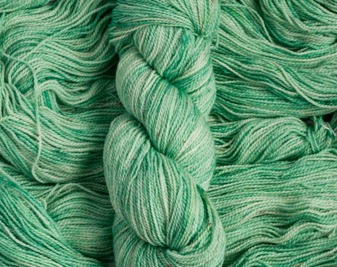 """Featured listing image: Feather """"Julep"""" – 100% 17 micron merino wool yarn, fingering weight, 400  yards, 115 grams, 2 ply, milled in Canada, superwash"""