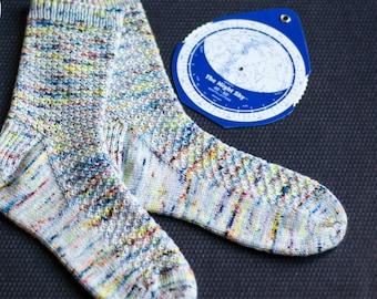 Stargazer Handknit Socks Knitting Pattern, toe-up or cuff-down, pdf download
