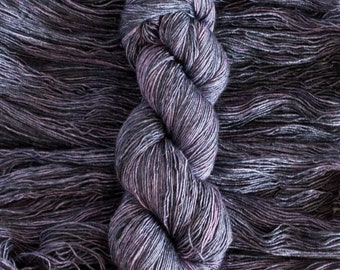 "Merlin ""Concord"", merino/silk (70/30) fingering weight yarn, single ply, 435 yards, 100 grams, superwash"