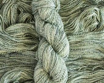 "Magpie DK ""Pinot Gris"" Hand-dyed, hand-plied,marled yarn, 200 yards/100 grams, 2 ply, 100% merino, superwash"