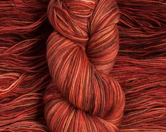 "Eider ""Spice Box""  - 100% extra-fine merino fingering weight yarn, 420 yards/100 grams, 4 ply, non-superwash, hand dyed"