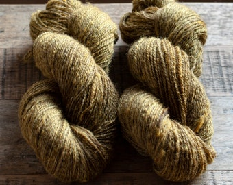 Hand dyed Romney Alpaca Silk blend Fingering weight yarn, 2 ply, 400 yards, 100 grams, Canadian raised and milled, small batch