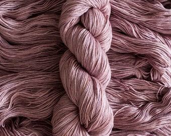 "Waxwing ""PlumTart"" Extra-fine merino/silk (75/25) fingering weight yarn, 435 yards, 100 grams, 4 ply"