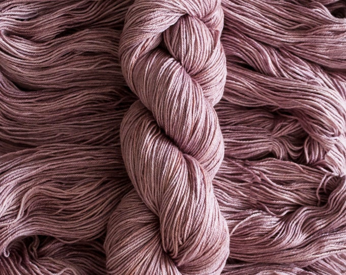 "Featured listing image: Waxwing ""PlumTart"" Extra-fine merino/silk (75/25) fingering weight yarn, 435 yards, 100 grams, 4 ply"