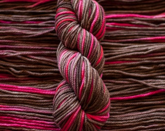 "Loon ""Cherry Cola"" -  100% 19.5 micron wool, bulky, 100 yards, 100 grams, 8 ply, non SW"