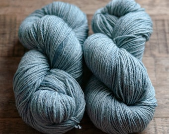 Hand Dyed Sock Yarn, Babydoll Southdown silk mohair blend, fingering weight , 400 yards, 100 grams, 3 ply, synthetic free, Waterlily