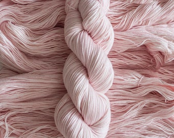"Hand dyed Yarn ""Tutu"" Soft Pink Extra-fine merino/silk blend fingering weight yarn, 435 yards, 100 grams, 4 ply, superwash"