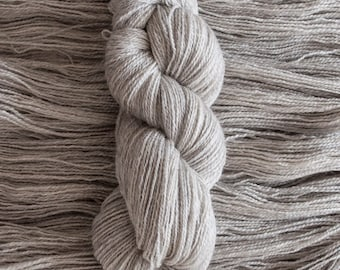 Undyed BFL/Gotland (75/25) fingering weight yarn, 380 yards, 100 grams, 2 ply, milled in the UK, non-superwash