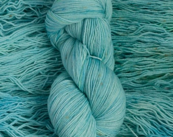 "Eider ""Sea Glass""  - 100% extra-fine merino fingering weight yarn, 420 yards/100 grams, 4 ply, non-superwash, hand dyed"