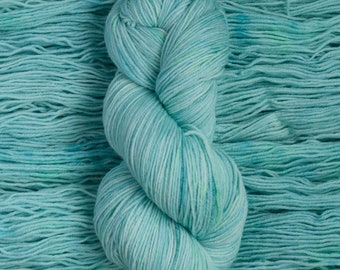 "Eider ""Crystal""  -100% extra-fine merino fingering weight yarn, 420 yards/100 grams, 4 ply, non-superwash, hand dyed"