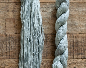 Tanguis Cotton Tencel blend laceweight yarn, 400 metres per 50 grams, Grey