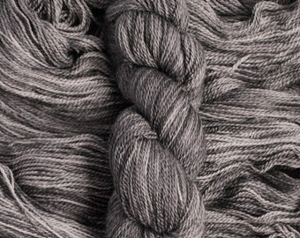 """Oriole """"Pewter"""" – 21.5 micron wool/baby alpaca,(70/30), 400  yards, 100 grams, 2 ply, milled in South America, non SW"""