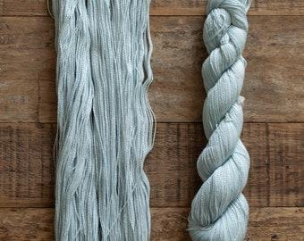 Tanguis Cotton Tencel blend laceweight yarn, 400 metres per 50 grams, Silver
