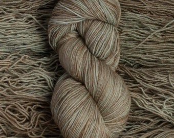"Eider ""Pond""  - 100% extra-fine merino fingering weight yarn, 420 yards/100 grams, 4 ply, non-superwash, hand dyed"