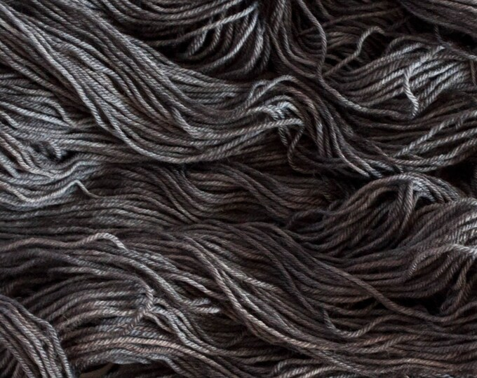 "Featured listing image: Towhee DK ""Dark Matter"" - 100% Polwarth wool yarn, 240 yards/100 grams, 4 ply, superwash"