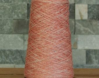 Heathered peachy orange Cotton Viscose blend DK weight yarn, 319 metres, 145 grams