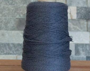 Slate Blue Cotton Linen Bamboo blend laceweight yarn, 2065 metres, 295 grams