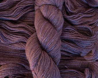 "Tern Fingering, ""Fig"", BFL/Masham (75/25), 400 yards, 100 grams, 2 ply, non-superwash"