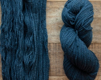 Hand dyed small batch yarn, light DK weight CVM x wool yarn, 3 ply, 270 yards per 100 grams, available in 5 colours, Canadian sourced & spun