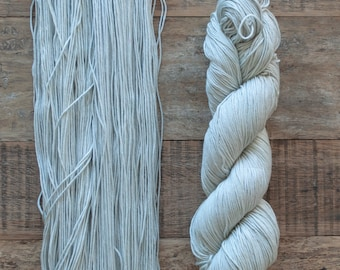 Grey Cotton Fingering weight yarn, 360 metres per 100 grams, price per skein, mill end, limited supply