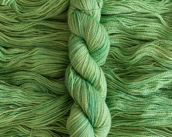 "Robin ""Sprout"" Hand dyed 100% non-superwash BFL fingering weight yarn, 378 yards/115 grams"