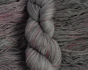 "Eider ""Cinder""  -100% extra-fine merino fingering weight yarn, 420 yards/100 grams, 4 ply, non-superwash, hand dyed"