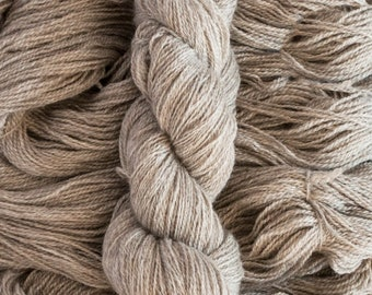 Undyed BFL/Masham blend (75/25), fingering weight yarn, 400 yards, 100 grams, 2 ply, non-superwash