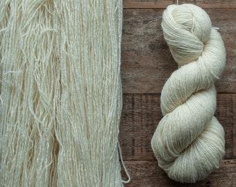 Undyed or Custom Dyed Ryeland wool yarn, sport weight, 325 yards per 100 grams, 3 ply, UK grown, Canadian spun, rare breed, Halwill