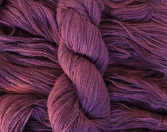 "Tern Fingering, ""Black Cherry"", BFL/Masham (75/25), 400 yards, 100 grams, 2 ply, non-superwash"