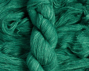 """Oriole """"Evergreen"""" – 21.5 micron wool/baby alpaca,(70/30), 400  yards, 100 grams, 2 ply, milled in South America, non SW"""