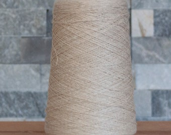 Beige Cotton Linen Bamboo blend laceweight yarn, 1610 metres, 230 grams