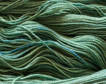 "Cygnet ""Sprout"" - 600 yards/150 grams 2 ply wool/silk (70/30), fingering weight, non-superwash"